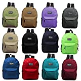 24 Pack - 17 Inch Basic Bulk Backpacks in Assorted Colors - Wholesale Case of Bookbags...