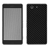 atFolix Skin kompatibel mit Sony Xperia Z3 Compact, Designfolie Sticker (FX-Carbon-Black), Carbon-Struktur/Carbon-Folie