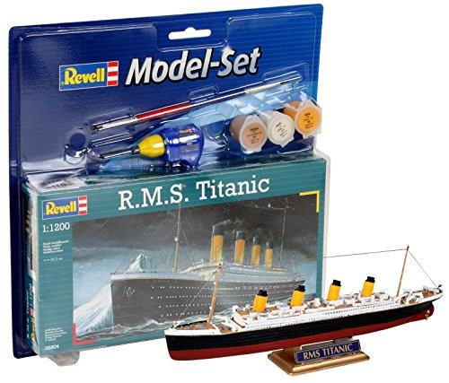 Revell - Maqueta Modelo Set R.M.S. Titanic, Escala 1:1200 (65804)