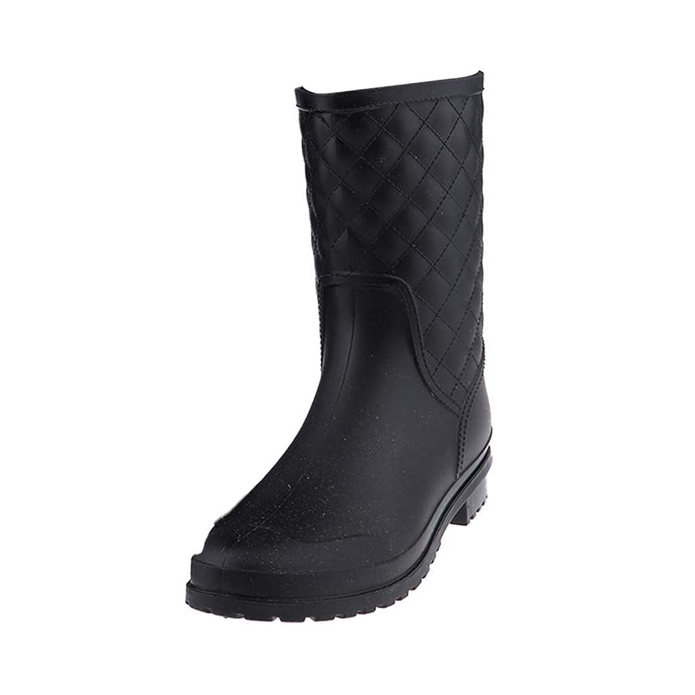 ドラマ勉強する間欠Baoblaze レインブーツ 雨靴 レディース アンクルブーツ ブラック 防水 滑り止め 雨/雪対策 全4サイズ