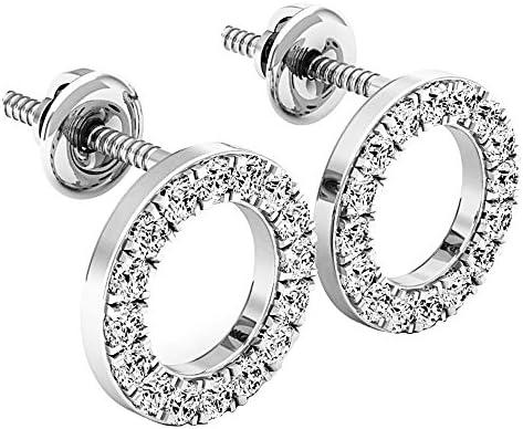 Dazzlingrock Collection 0 50 Carat ctw Round White Diamond Ladies Circle Shape Stud Earrings product image