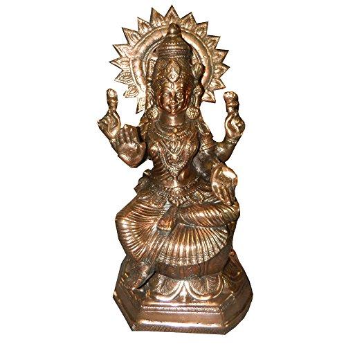 Statuetta Portafortuna Lakshmi Statua Color Bronzo, 55cm, divinità Indiana Accessori Decorazione casa