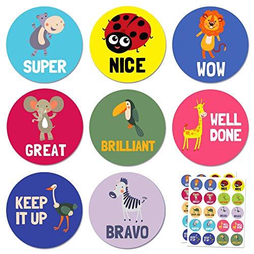 Animal Pegatinas de Recompensa - 10 diseños, 400 pegatinas