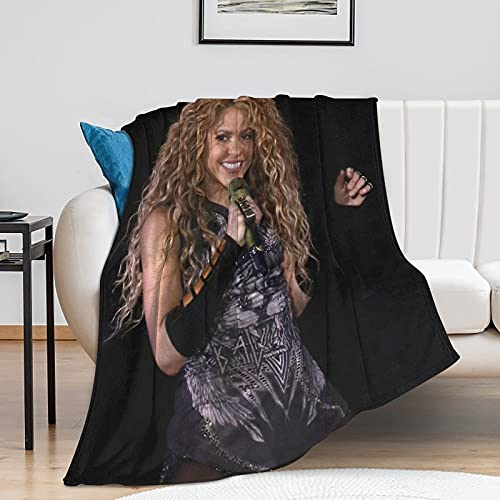 AZZXC Shakira Decke – Pop Art – Übergroß warm – super weich – Anti-Pilling-Flanell – 100 x 130 cm