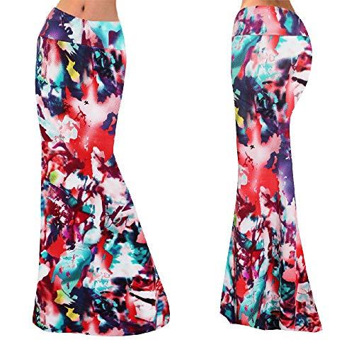 NOBRAND Summer 2020 Falda larga estampada para mujer con cintura alta y temperamento fino
