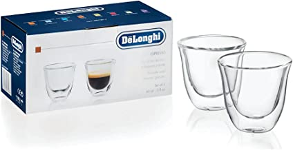 DeLonghi 5513284151 Double Walled Thermo Espresso Glasses, Set of 2