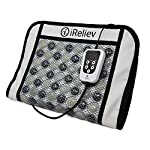 "Far Infrared Heating Pad with Natural Jade for Pain Relief by iReliev for Back Pain, Arthritis, Cramp Relief Fast Heat Therapy Smart Controller Auto-Shutoff 24""x16"" HC-2416 FSA HSA Approved Travel Bag"