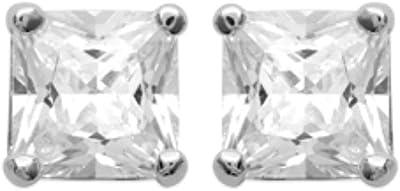 ISADY - Miranda - Boucles d'oreille - Clous d'oreilles - 5 mm - Argent fin 925/1000 - Oxyde de zirconium transparent