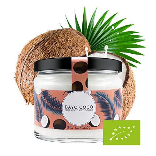 DAYO COCO Bio Kokosöl 270 ml | Premium Qualität | Kaltgepresst | Extra Nativ |100% Bio | Vegan