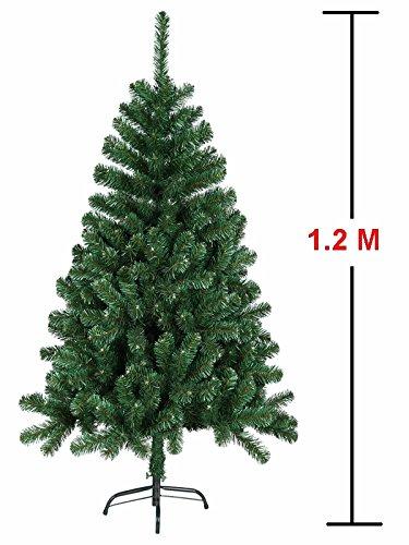 MCTECH 120 cm Árbol de Navidad con soporte - Artificial árboles Árbol de decoración de PVC verde (120 cm)