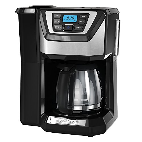 BLACK+DECKER 12-Cup Mill and Brew Coffeemaker CM5000B
