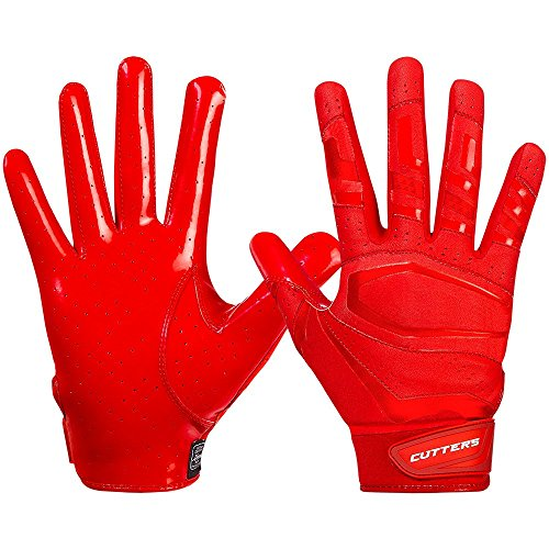 Cutters American Football Gloves S452 Rev Pro 3.0 Solid Receiver Handschuhe Design 2018 - Rot Gr. L