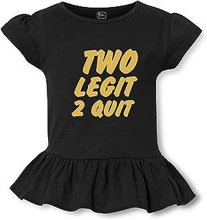 Two Legit 2 Quit Short Sleeve Toddler Cotton Girly T-Shirt Tee