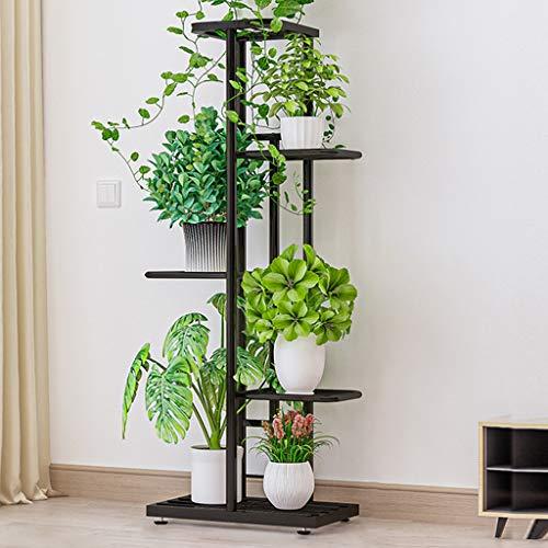 VOVEY Soporte para Plantas Estante para Plantas de Hierro con 5 Niveles Estante para Plantas...