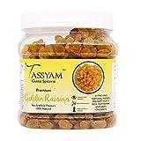 Tassyam Golden Raisins Healthy Juicy Hand-Sorted Jumbo Indian Kishmish Jar, 700g
