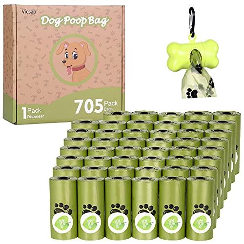 Viesap Bolsas Para Excrementos de Perros, 47 Rodar(705 Bolsa)Bolsas Perro con...