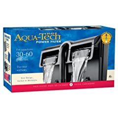 For 30 to 60 gallon aquariums Two year warranty Advanced 3 step filtration Comes with one AQUA-Tech EZ-Change #3 Filter Cartridge Traps dirt, removes impurities and offers maximum water to carbon contact