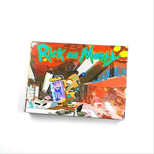Rick Y Morty Juego De Mesa Juegos De Cartas Total Rickall 2-5 Jugador Divertido Juego De Fiesta Familiar Juguetes 80mm * 54mm Rick y Morty