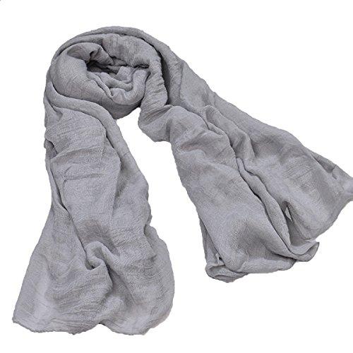 Printemps été Nouveau Style Couleur Pure Coton Lin écharpe Châle écharpe En Soie,16-M