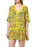 Desigual Top_Java Swimwear Cover Up, amarillo, M para Mujer