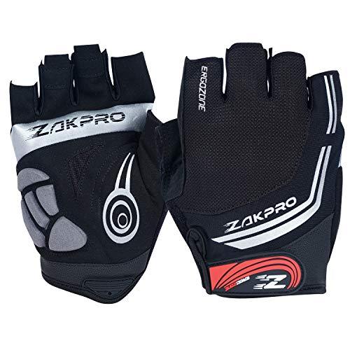 ZAKPRO Cycling Gloves - Hybrid Series, Large (Black)