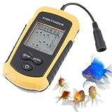 100M Depth Portable Fish Finder LCD Sonar Sensor Alarm Transducer Fishfinder//100M Profondeur Portable Fish Finder LCD Sonar Sensor Alarme transducteur Fishfinder