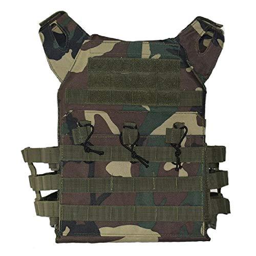 BGJ Equipo Militar Chaleco táctico Caza Tiro Combate Armadura Corporal Paintball Chaleco Airsoft Juego de Guerra al Aire Libre Molle Plate Carrier Vest