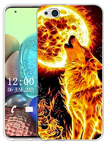 Sunrive Hülle Kompatibel mit ZTE Nubia Z9 Max Silikon, Transparent Handyhülle Schutzhülle Etui Hülle (X Wolf)+Gratis Universal Eingabestift MEHRWEG