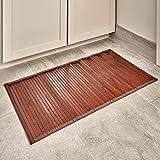 iDesign Tapete para baño, tamaño pequeño, Color Oscuro, Bambú, Marrón (Moka), 61 x 43 cm