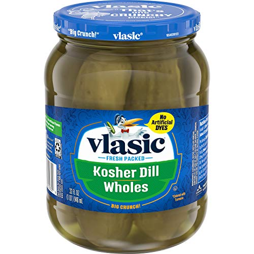 Vlasic Kosher Dill Whole Pickles, Keto Friendly, 32 FL OZ