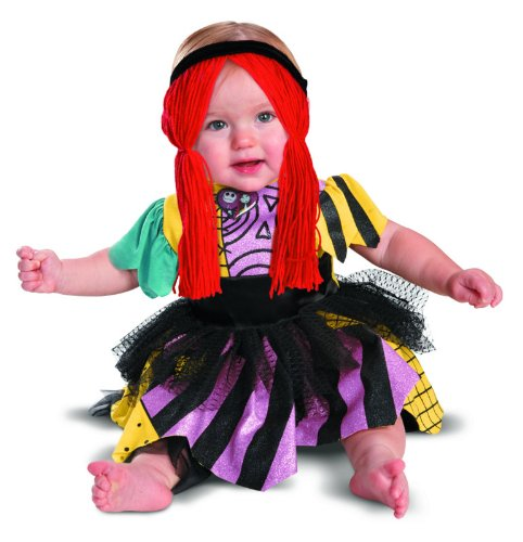 Disguise Costumes Tim Burtons The Nightmare Before Christmas Sally Prestige Infant, Yellow/Black/Purple, 12-18 Months