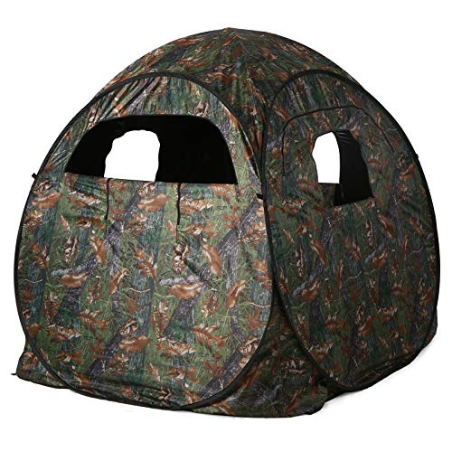 Lixada Hunting Tent Pop-Up Camouflage Hunting Tent Portable Hunting Blind Bird Watching