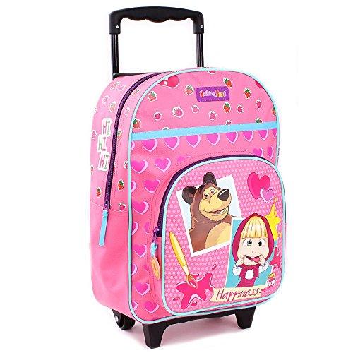 Mascha und der Bär Trolley Rucksack Kinder   35 x 28 x 14 cm Reisetasche