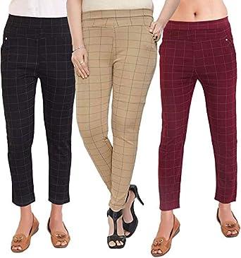 Shree Nath Women's Slim Fit Jeggings (Pack of 3)(Jeggings combo_Black, Beige & Maroon_28)