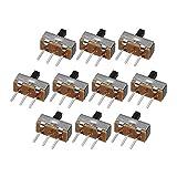 Ils - 300 Piezas SS12d00G4 2 Gear 3 Pin Interruptor Interruptor Interruptor Deslizante Interruptor On-Off Handle Longitud 4mm