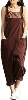 ZEFOTIM Womens Loose Jumpsuit Strap Belt Bib Pants Trousers Casual Overall Pants