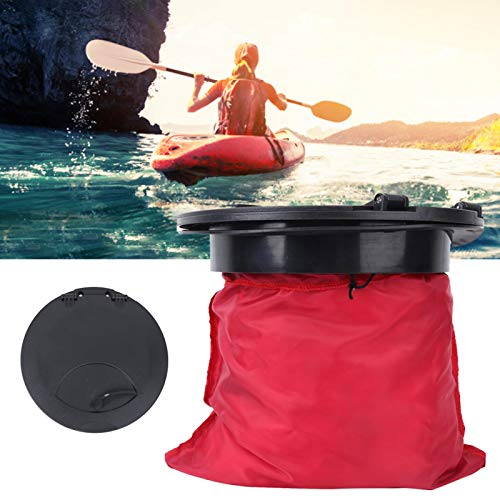 Compartment Cover, 9IN Standard Round Canoeing Compartment Cover Kit ABS Plastic Access Cover Fishing Boat Accessory KK-A51