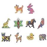 Beetest Plaques Perles à Repasser, 10 PCS Perle a Repasser Mignon Kawaii Animal...