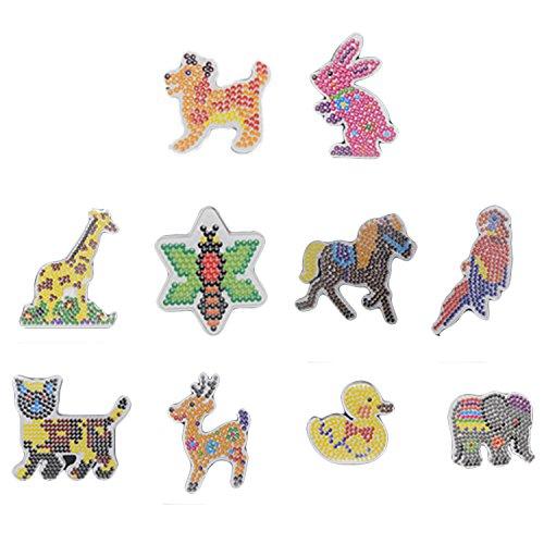 Beetest ES Hama Beads Plantilla, 10 Piezas de Dibujos Animados en Forma de Animales Tableros de Tableros de PláStico Plantilla para Bricolaje Fusible ArtesaníA Cuentas NiñOs NiñAs Estilo Aleatorio