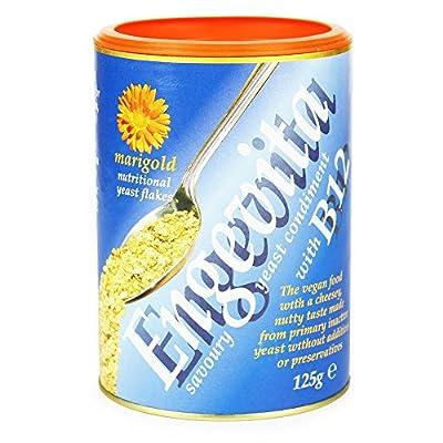 Marigold Engevita Yeast Flakes With Vitamin B12 125g (Pack of 4)
