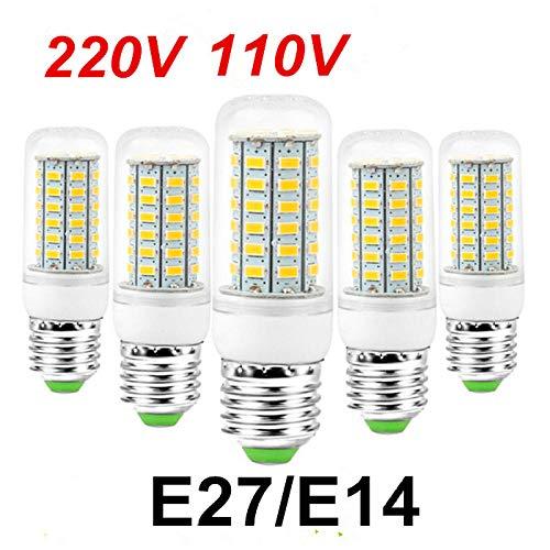 Halogeenlamp 1 nieuwe LED-lamp E27 E14 3W 5W 7W 12W 15W 18W 20W 25W SMD 5730 maïs maïs maïs 220V 110V LED kroonluchter kaars reflector 2020