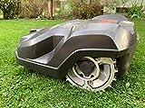 Puntas de acero inoxidable para mejorar la tracción para robot cortacésped Husqvarna, tamaño de rueda 255 mm