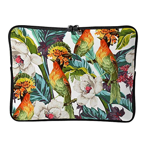 Laptop Bags Palm Leaves Patterned Everyday Lightweight Tropical Plants Tablet Case Suitable for Commuter