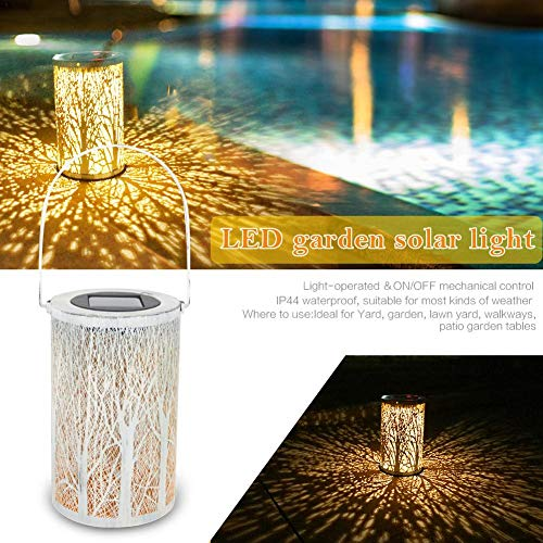 Lantaarn op zonne-energie voor buiten, automatische in-/uitschakeling, tuin, LED, nachtlampje, IP44, waterdicht, decoratieve sfeer, hanglantaarn, mooie tafellamp voor binnenplaats, feest, gazon