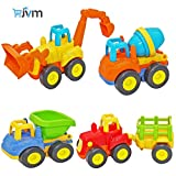JVM Friction Powered Automobile Cars Push and Go Car Construction Vehicles Toys, Tractor
