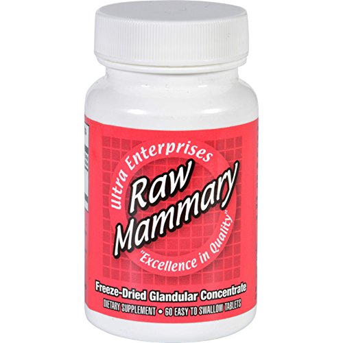Ultra Glandulars Mammary Raw Tablets, 60 Count