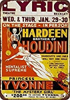 面白い金属ノベルティサインアルミニウム、Houdini39; sブラザー-コーヒーオフィスプールヤード公共トイレ駐車場家の壁の装飾、ヴィンテージアートポスター、家の壁の装飾のための芸術の装飾