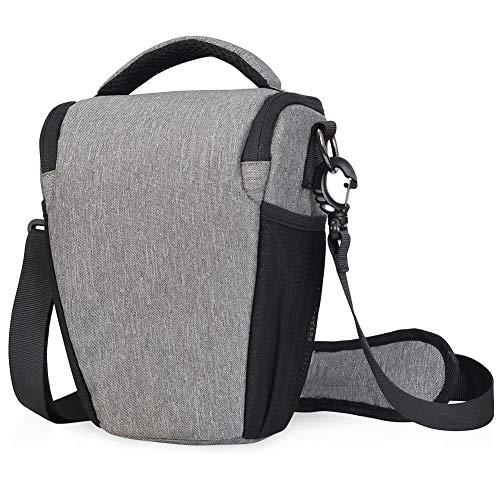 Kameratasche, CADeN DSLR/SLR Camera Sling Bag Schultertasche für Nikon Canon Sony Mirrorless Spiegelreflex kameras (hellgrau)