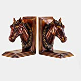 SXZHSM Kreativer Pferdekopf-Buchblock, Bücherregal, Dekoration, Kunstbuch, Dekoration, Basteln, Raumdekoration, 15 x 10,5 x 20 cm, Buchständer