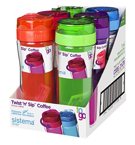 Sistema 21478 Coffee to go beker, polypropyleen, 49 cc, meerkleurig